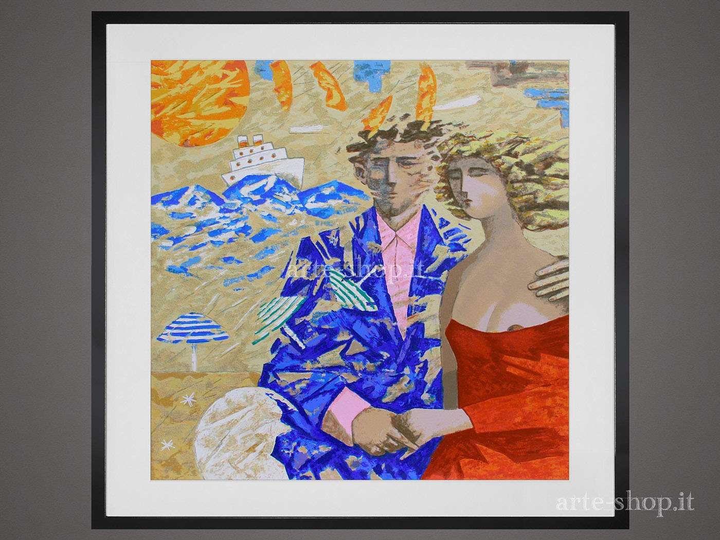 Serigrafia Giampaolo Talani - Amanti marini