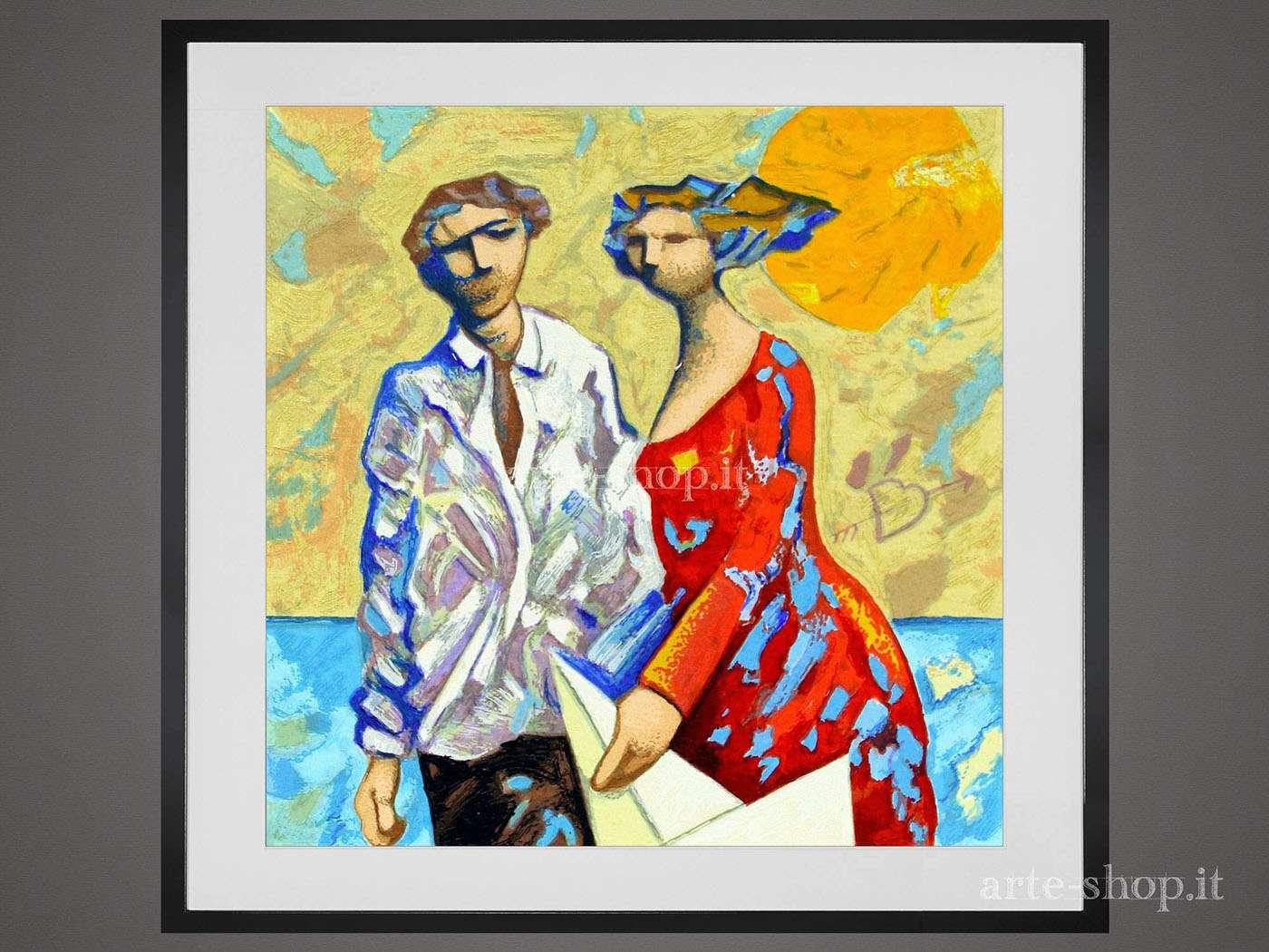 Serigrafia Giampaolo Talani - Due ombre insieme