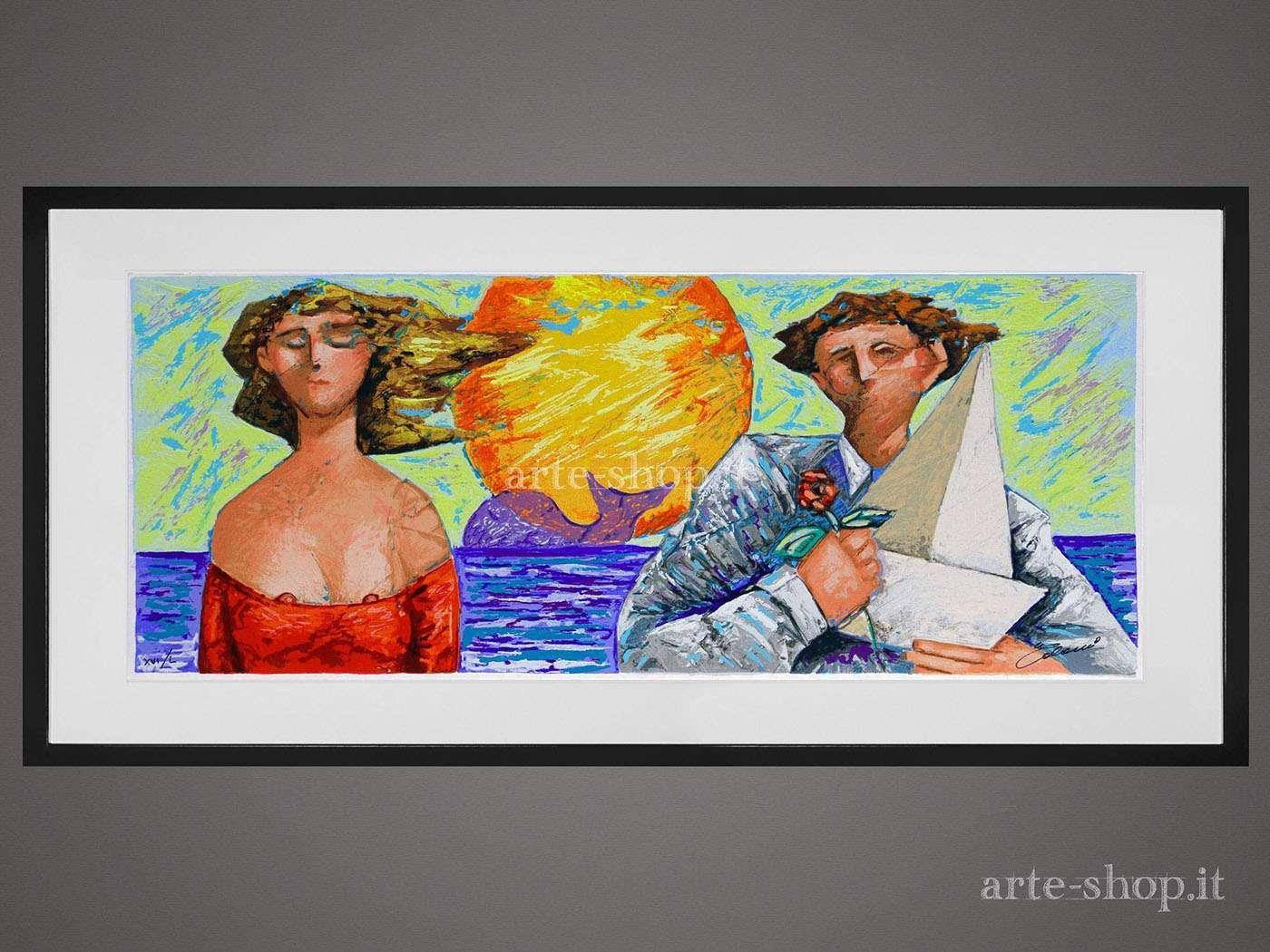 Serigrafia Giampaolo Talani - La barca e la rosa