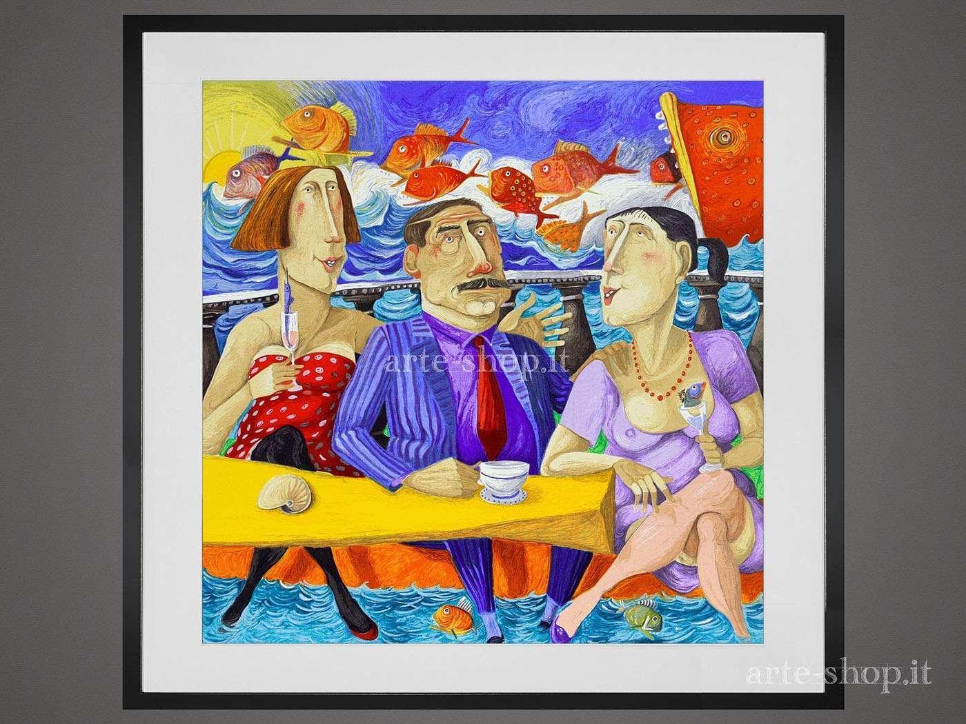 Serigrafia Pino Procopio - Bar sotto il mare
