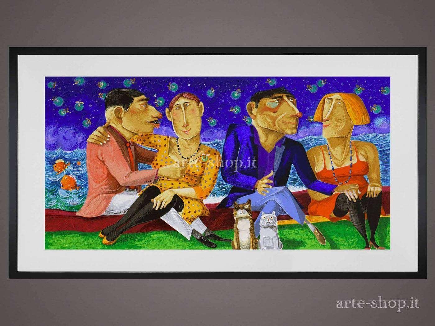 Serigrafia Pino Procopio - Confidenze notturne