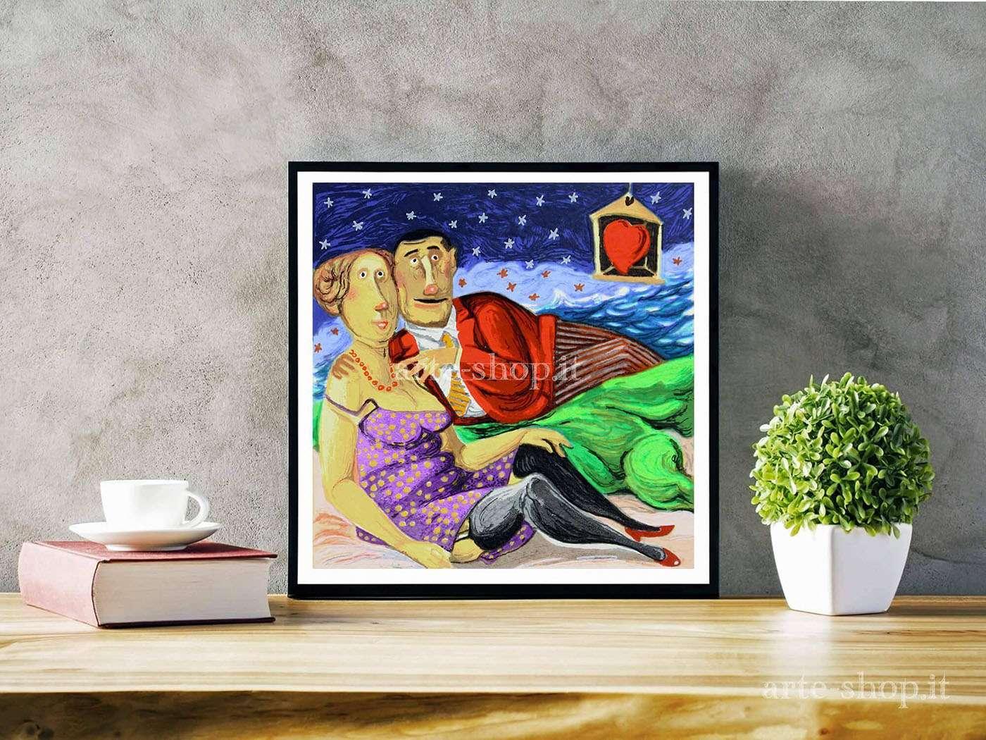 Serigrafia Pino Procopio - Notte stellata
