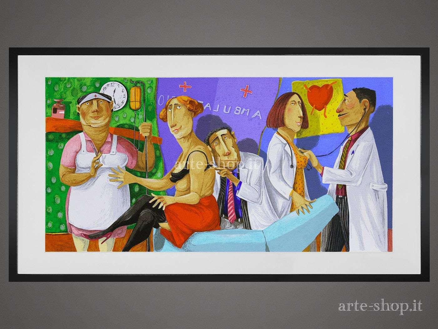 Serigrafia Pino Procopio - Questioni cuore