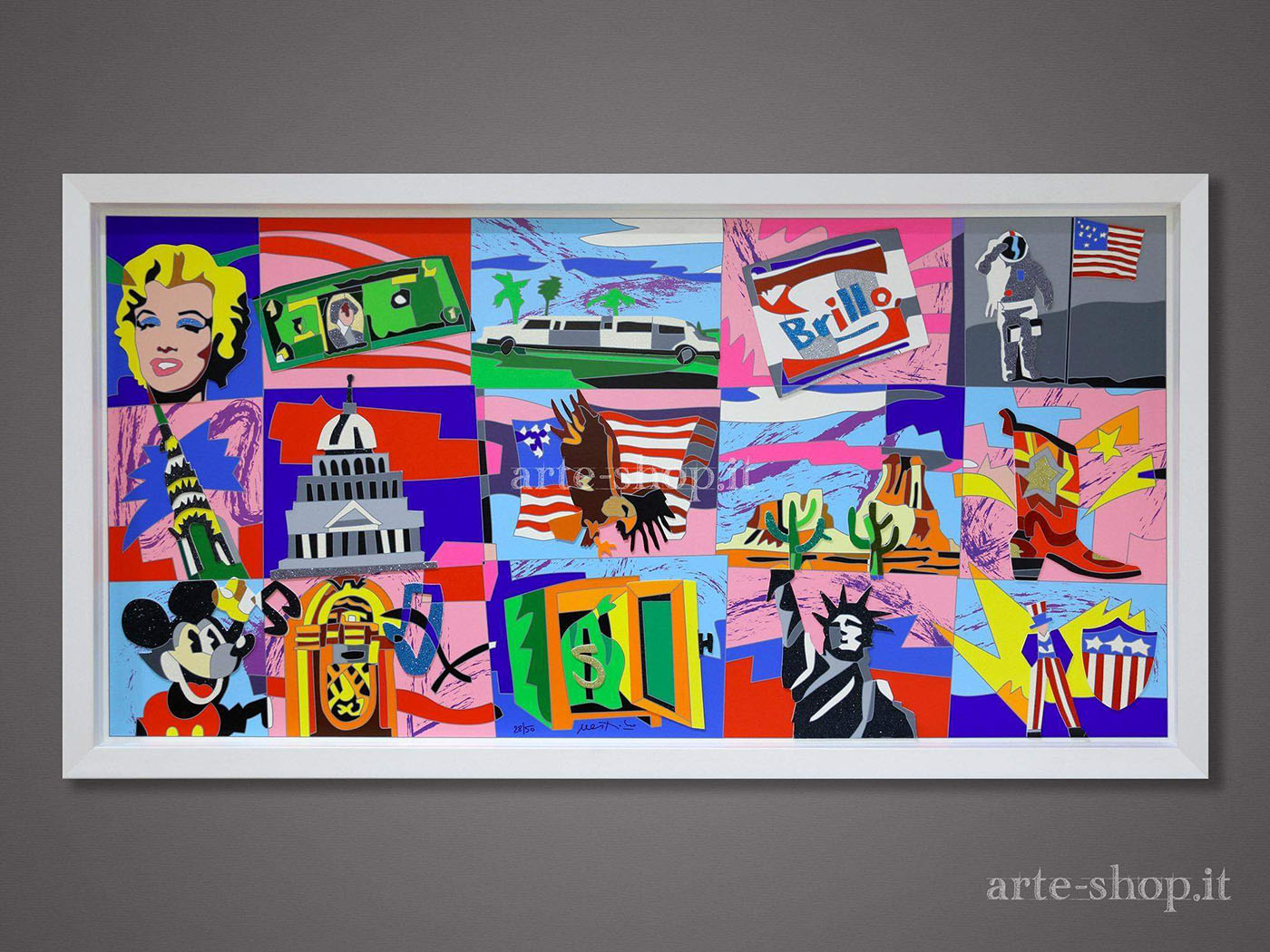 Serigrafia Ugo Nespolo - American Icons