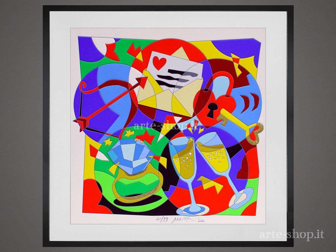 Serigrafia Ugo Nespolo - Le ore serene