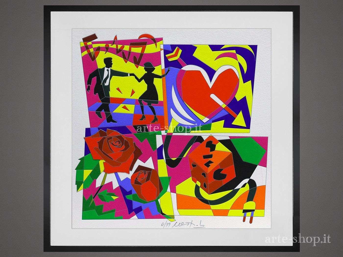 Serigrafia Ugo Nespolo - Lush Life