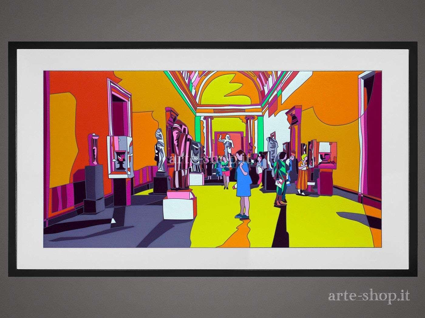 Serigrafia Ugo Nespolo - New York Met