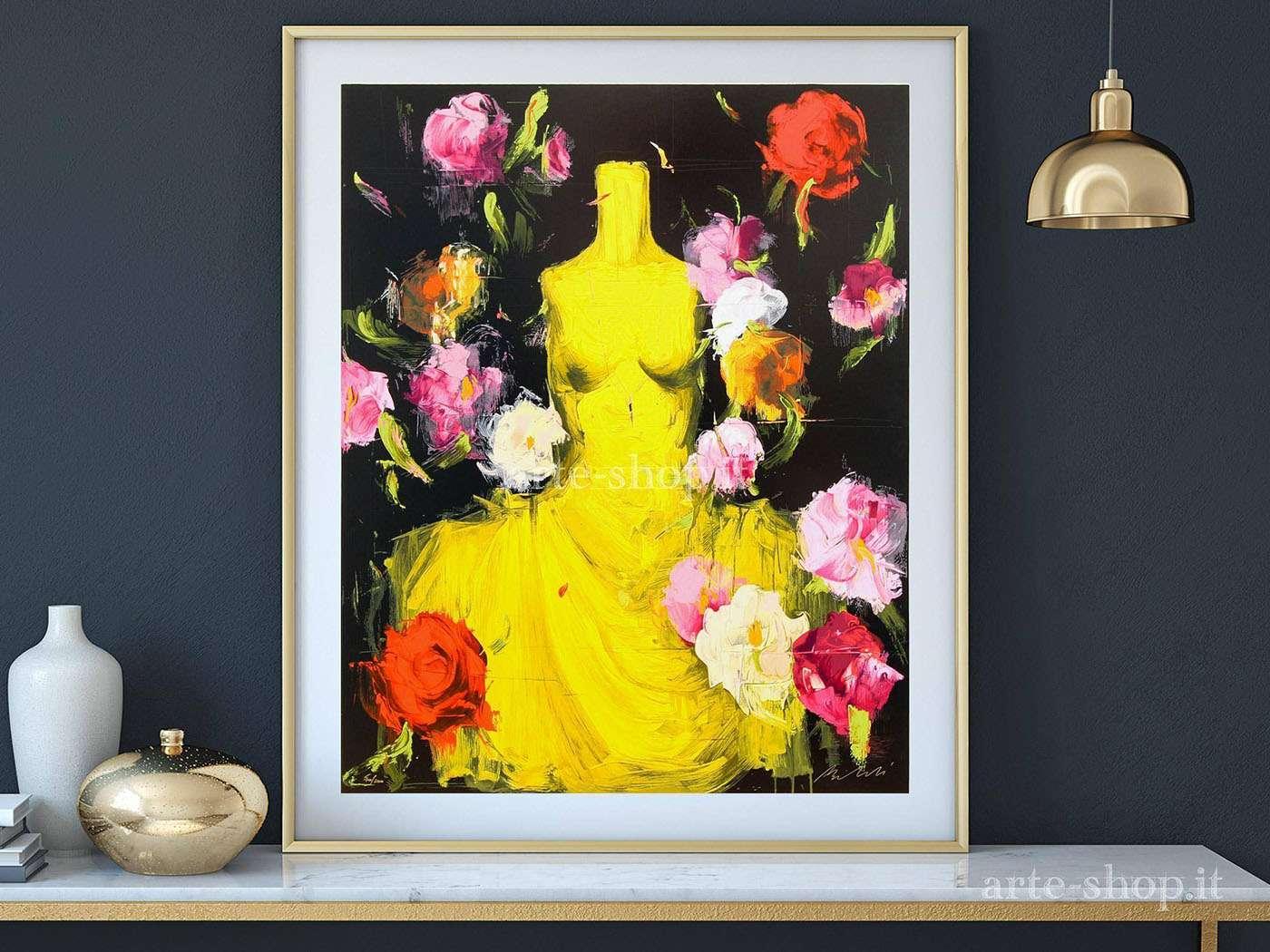 Serigrafia Luca Bellan- Yellow dress