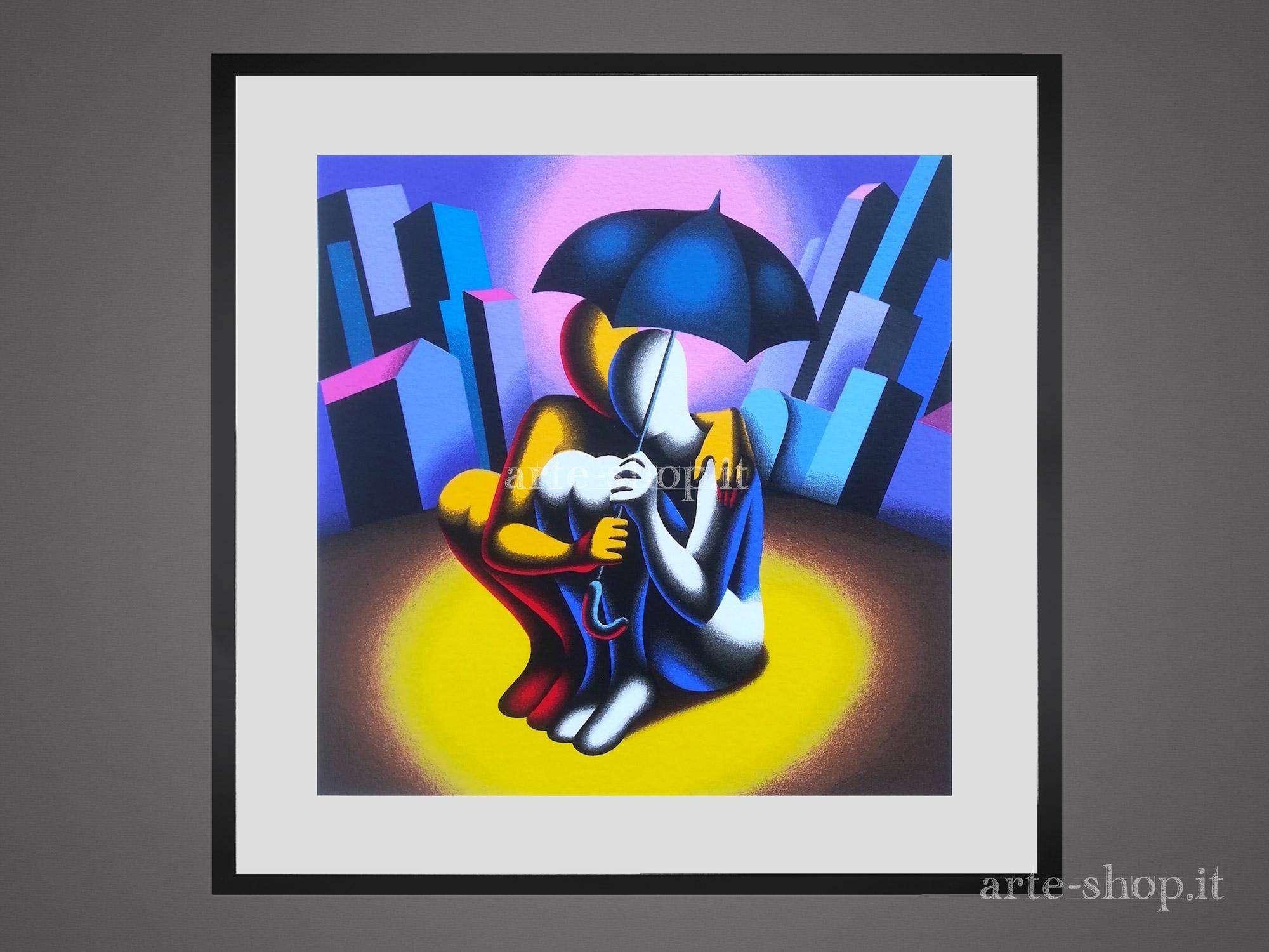 Serigrafia Mark Kostabi - Protection