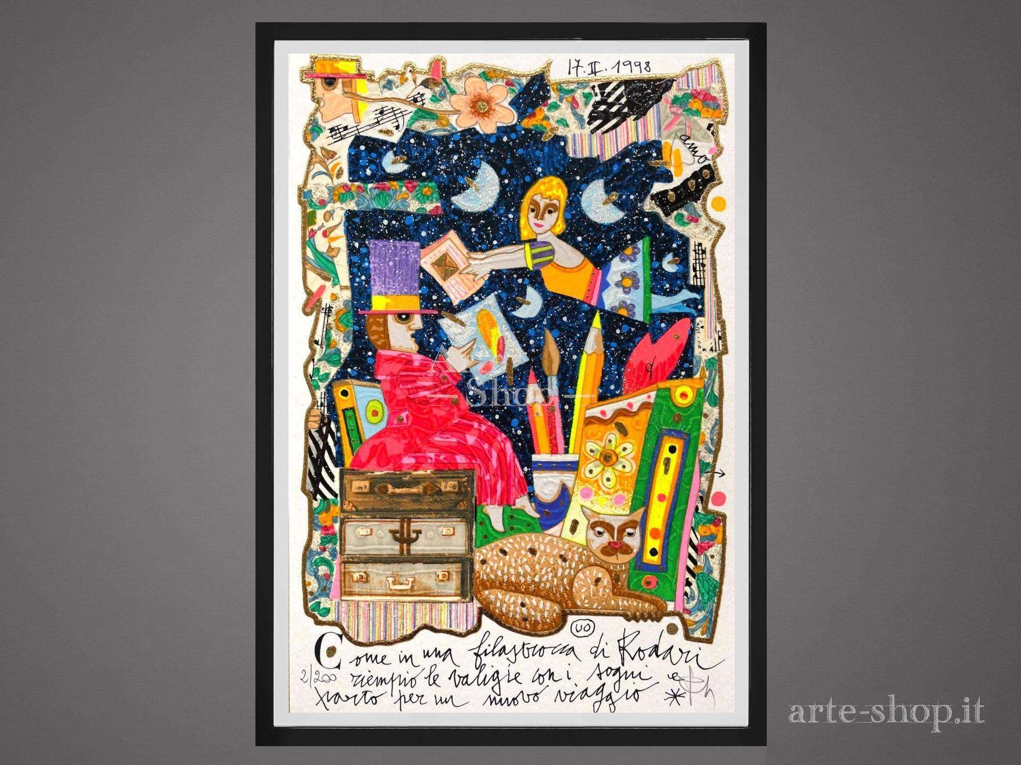 Serigrafia Francesco Musante - Come in una filastrocca