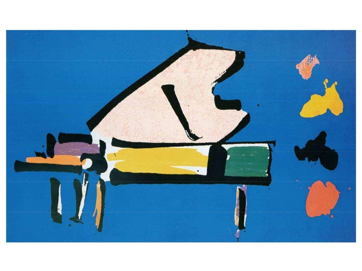Serigrafia Giuseppe Chiari - Pianoforte